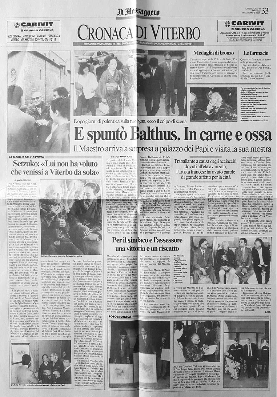 balthus mostra viterbo 1996