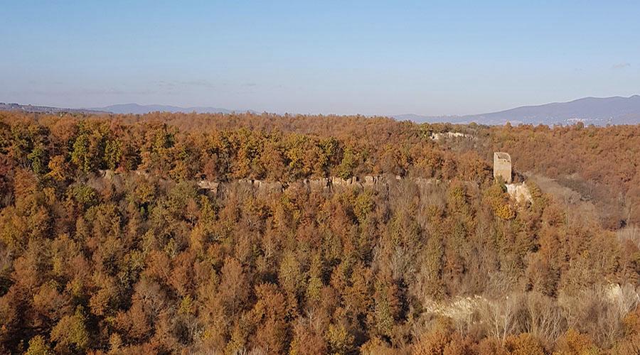 Balthus paesaggio Montecalvello Viterbo