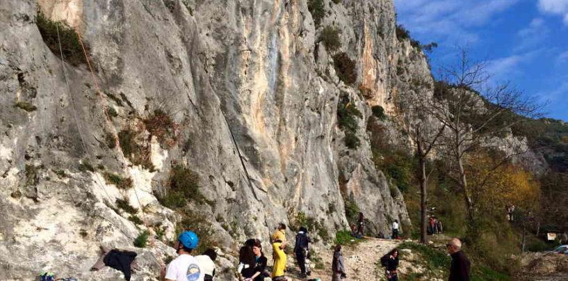 Riaperta la falesia di Ferentillo danneggiata dal terremoto