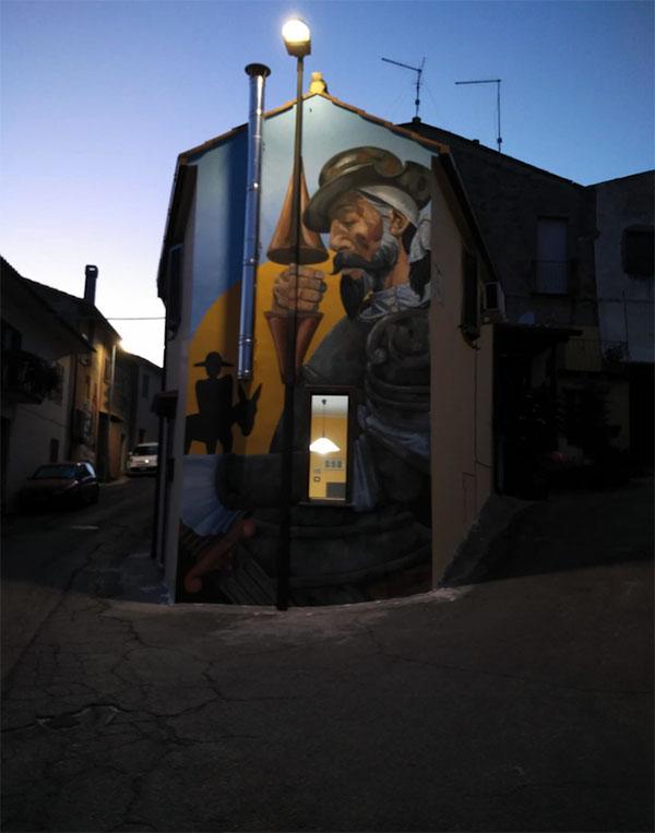 il murales dell'opera del Cervantes