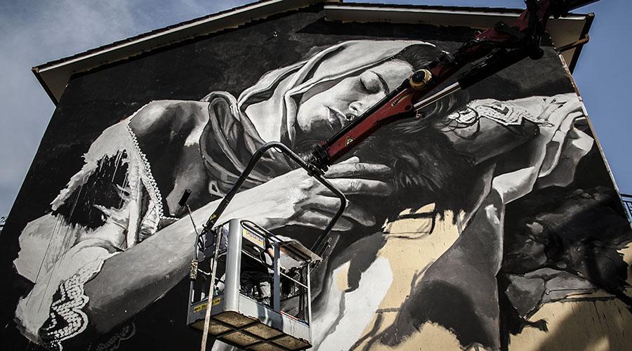 Pubblica residenza arte urbana gallese