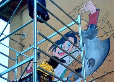 I cartoon anni '80 nei murales di Paolo Carriere a Castel Cellesi e Vetriolo