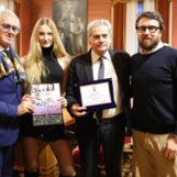 La modella Valentina Beraldo premiata dal Comune di Viterbo