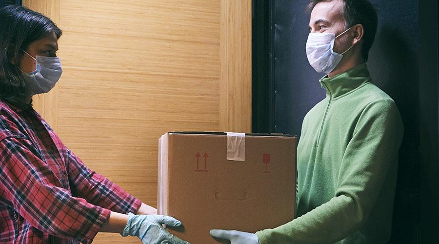 mascherine coronavirus consegna a domicilio
