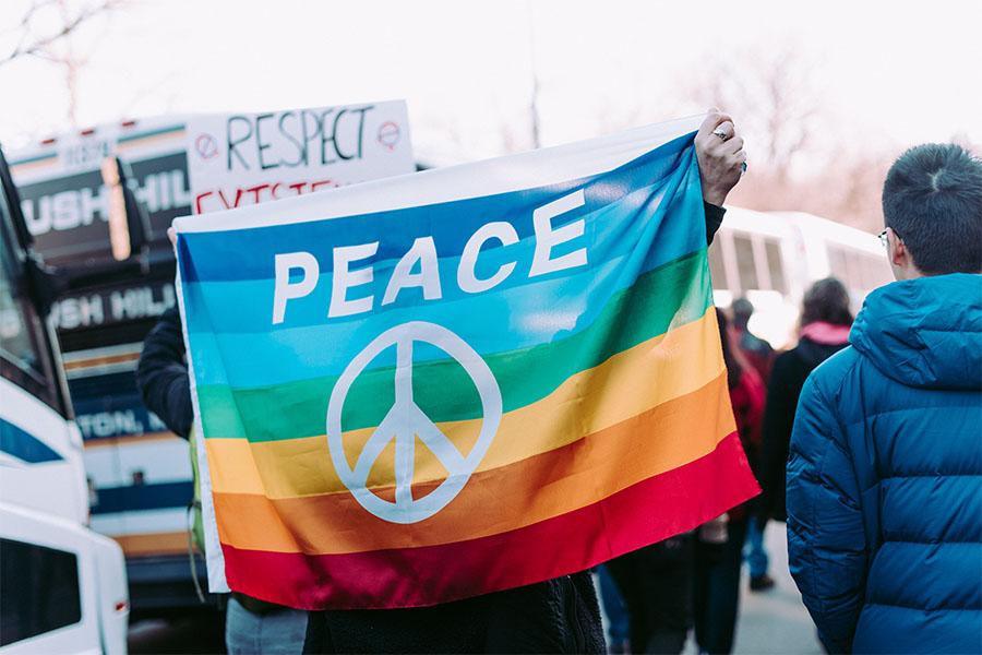 bandiera pace movimento pacifista