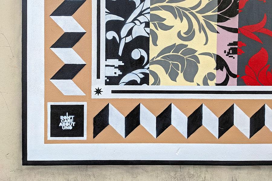 A Terni un murale-arazzo dello street artist Uno