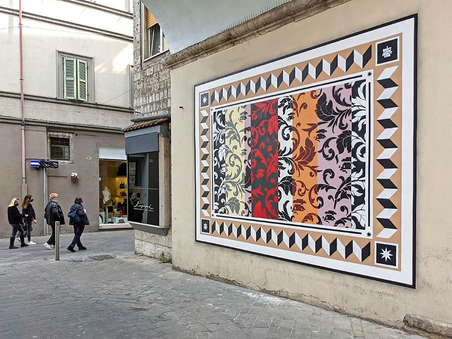 street artist uno ornato disegnato terni