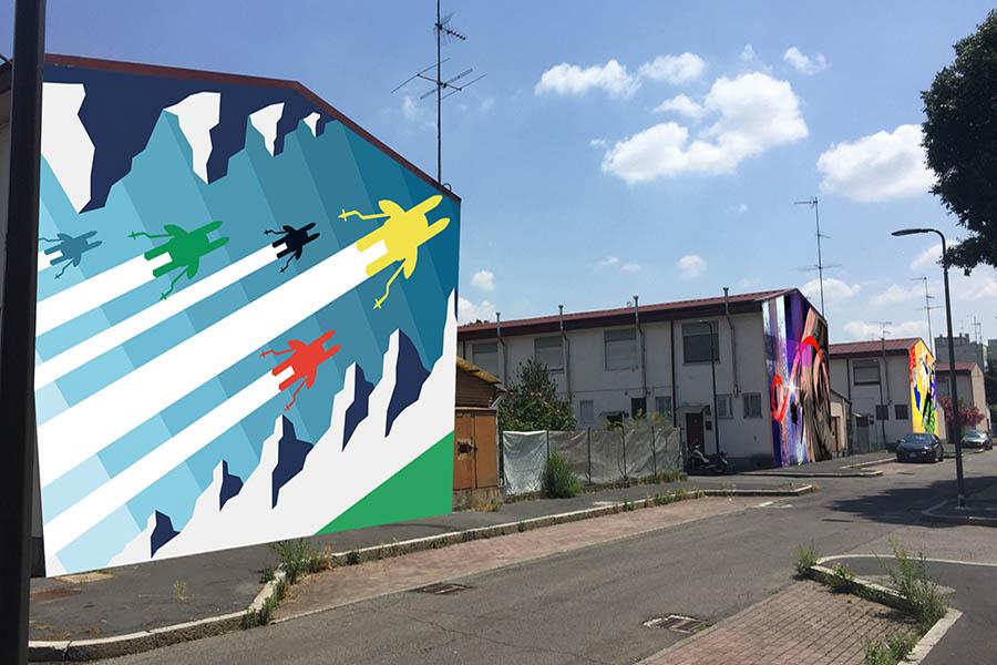 Corba: arte urbana per rigenerare il Villaggio dei Fiori a Milano